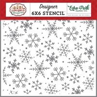 """Εικόνα του Echo Park Stencil 6""""X6"""" - Magical Snowflakes"""