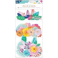 Εικόνα του Paige Evans Go The Scenic Route Ephemera Cardstock Die-Cuts - Floral