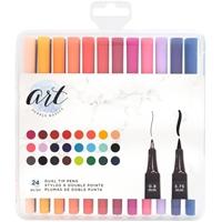 Εικόνα του Art Supply Basics Dual Tip Pens - Μαρκαδόροι με Διπλή Μύτη