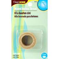 Εικόνα του Dritz Home Waxed Button Thread - Natural