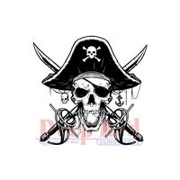 """Εικόνα του Deep Red Σφραγίδα Cling 2.1""""X2"""" - Beware Of Pirates"""