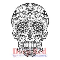"""Εικόνα του Deep Red Σφραγίδα Cling 2.1""""X3"""" - Sugar Skull"""