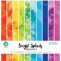 """Εικόνα του Colorbok Μπλοκ Scrapbooking 12""""X12"""" - Watercolor Bright Splash"""