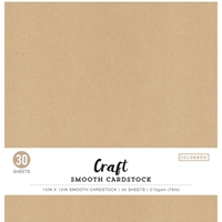 "Εικόνα του Colorbok Smooth Cardstock 12""X12"" - Kraft"