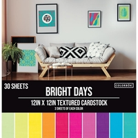 Εικόνα του Colorbok Textured Cardstock Pad - Bright Days