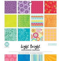 "Εικόνα του Colorbok Single-Sided Printed Cardstock 6""X6"" - Light Bright"