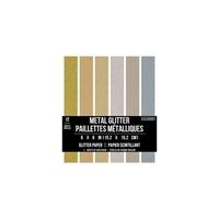 """Εικόνα του Colorbok Glitter Paper Pad 6""""X6"""" - Precious Metal"""