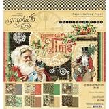 """Εικόνα του Graphic 45 Double-Sided Paper Pad 8""""X8"""" - Christmas Time"""