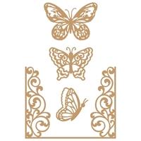 Εικόνα του Prima Marketing Laser Cut Chipboard - Butterfly Flight