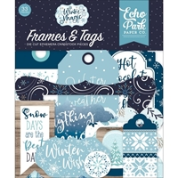 Εικόνα του Echo Park Cardstock Ephemera Winter Magic - Frames & Tags