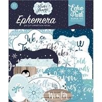 Εικόνα του Echo Park Cardstock Ephemera Winter Magic - Icons