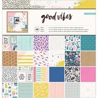 """Εικόνα του Crate Paper Single-Sided Paper Pad 12""""X12"""" - Good Vibes"""