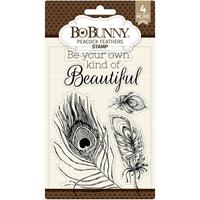 """Εικόνα του BoBunny Σετ Σφραγίδες Clear 4""""X6"""" - Peacock Feathers"""