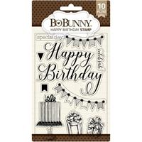 """Εικόνα του BoBunny Σετ Σφραγίδες Clear 4""""X6"""" - Happy Birthday"""