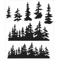 """Εικόνα του Tim Holtz Σετ Σφραγίδες 7""""X8.5"""" - Tree Line"""