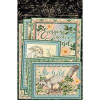Εικόνα του Graphic 45 Woodland Friends Εφέμερα & Κάρτες Journaling