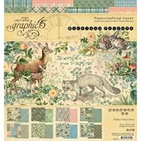 """Εικόνα του Graphic 45 Μπλοκ Scrapbooking Διπλής Όψης 8""""X8"""" - Woodland Friends"""