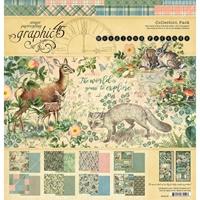 """Εικόνα του Graphic 45 Συλλογή Scrapbooking 12""""X12"""" - Woodland Friends"""