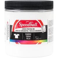Εικόνα του Speedball Fabric Screen Printing Ink 8oz - Μελάνι Λινοτυπίας White