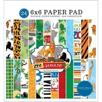 "Εικόνα του Carta Bella Double-Sided Paper Pad 6""X6"" - Zoo Adventure"