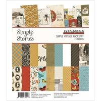 """Εικόνα του Simple Stories Double-Sided Paper Pad 6""""X8""""  - Simple Vintage Ancestry"""