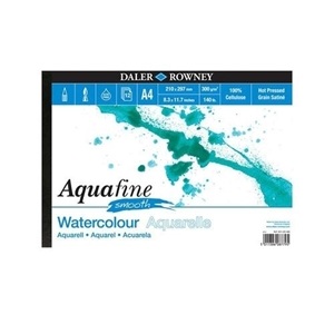 Picture of Daler Rowney Aquafine Μπλοκ Ακουαρέλας A4 - Smooth