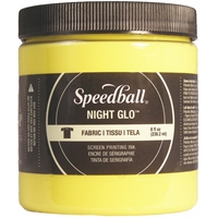 Εικόνα του Speedball Night Glo Fabric Screen Printing Ink 8oz - Μελάνι Λινοτυπίας Φωσφορίζον για Ύφασμα Yellow
