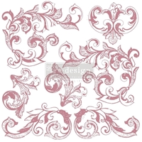 "Εικόνα του Prima Marketing Re-Design Decor Σετ Σφραγίδες Clear 12""X12"" - Elegant Scrolls"