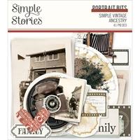 Εικόνα του Simple Stories Simple Vintage Ancestry Bits & Pieces Die Cuts - Portrait