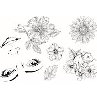 Εικόνα του Sweet Dixie Σετ Σφραγίδες Clear  A6 - Flora