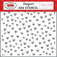 """Εικόνα του Echo Park Stencil 6""""X6"""" Cupid & Co. - Love You"""