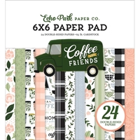 """Εικόνα του Echo Park Μπλοκ Scrapbooking Διπλής Όψης 6""""X6"""" - Coffee & Friends"""