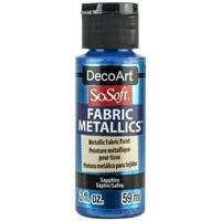 Εικόνα του SoSoft Fabric Metallics Ακρυλικο Χρώμα για Ύφασμα 59ml - Saphire
