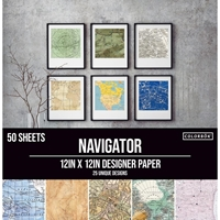 """Εικόνα του Colorbok Μπλοκ Scrapbooking 12""""X12"""" - Navigator"""