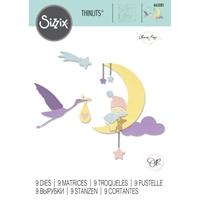 Εικόνα του Sizzix Thinlits Die By Olivia Rose - Lunar Baby