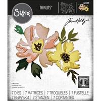 Εικόνα του Sizzix Thinlits Dies By Tim Holtz - Brushstroke Flowers #1
