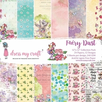 """Εικόνα του Dress My Craft Μπλοκ Scrapbooking 12""""X12"""" - Fairy Dust"""