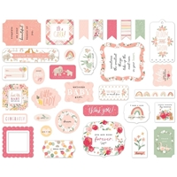 Εικόνα του Echo Park Cardstock Ephemera Welcome Baby Girl - Icons