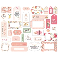 Εικόνα του Echo Park Cardstock Ephemera Welcome Baby Girl - Frames & Tags