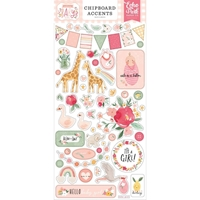 "Εικόνα του Echo Park Welcome Baby Girl Chipboard 6""X13"" - Accents"