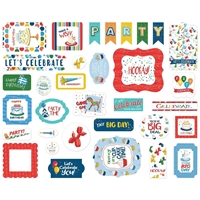 Εικόνα του Carta Bella Cardstock Ephemera Let's Celebrate - Icons