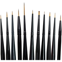 Εικόνα του Majestic Watercolor Detail Brush Set - Σετ 11 Πινέλων