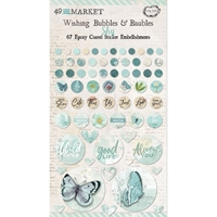 Εικόνα του 49 And Market Epoxy Coated Wishing Bubbles & Baubles - Sky