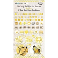 Εικόνα του 49 And Market Epoxy Coated Wishing Bubbles & Baubles - Butter
