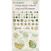 Εικόνα του 49 And Market Epoxy Coated Wishing Bubbles & Baubles - Sage
