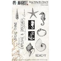 Εικόνα του 49 And Market Σετ Σφραγίδες Clear Vintage Artistry Shore