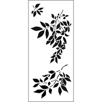 "Εικόνα του Crafter's Workshop Slimline Stencil 4""X9"" - Gentle Leaves"