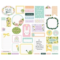 Εικόνα του Simple Stories Bunnies & Blooms Bits & Pieces Die-Cuts - Journal
