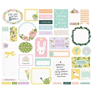 Picture of Simple Stories Bunnies & Blooms Bits & Pieces Die-Cuts - Journal