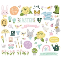 Εικόνα του Simple Stories Bunnies & Blooms Bits & Pieces Die-Cuts